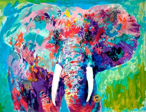 Leroy Neiman Elephant   Bethesda Fountain Central